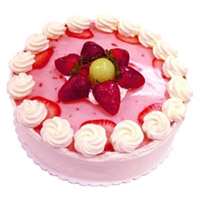 Send 1 Kg Strawberry Cake in Mumbai From 5 Star Hotel