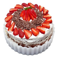 Send 2 Kg Strawberry Cake in Mumbai From 5 Star Hotel
