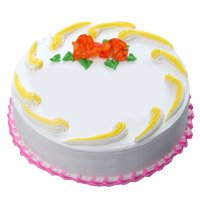 Send Eggless Cakes to Mumbai - Vanilla Cake