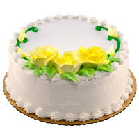Online Valentine's Day Eggless Cakes to Mumbai - Vanilla Cake From 5 Star