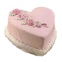Cake Delivery to Mumbai comprising of 2 Kg Heart Shape Vanilla Cake