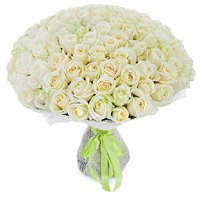 Flowers to Mumbai : 100 White Roses