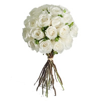 Send Flowers to Mumbai : 24 White Roses