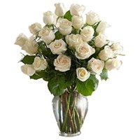 Flowers to Mumbai : White Roses
