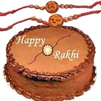Special 0.5 Kg Chocolate Cake with 1 Rakhi in Mumbai