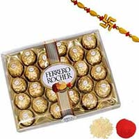 Send online Rakhi to Mumbai for Sister with 24 Pcs. Ferrero Rocher with 1 Rakhi