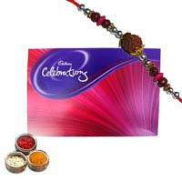 Deliver Cadbury Celebration Pack with 1 Rakhi to Mumbai. Rakhi Gifts to Mumbai