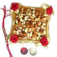 Send Rakhi Gifts to Mumbai with 250gm. mix Dryfruits and 1 Rakhi