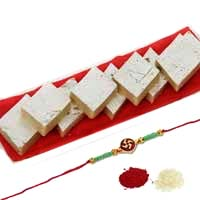 Buy 250gm. Kaju Barfi with 1 Rakhi in Mumbai. Rakhi Gifts in Mumbai