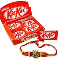 Send Rakhi Gift in Mumbai to Deliver 24 Nestle Kit Kat Bars with 1 Rakhi