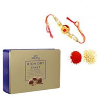Send Cadbury Celebration Rich Dryfruit with 1 Rakhi to Mumbai. Rakhi Gift to Mumbai